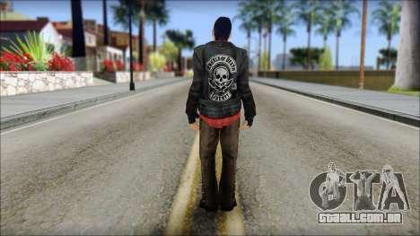 Young Bikerman Skin para GTA San Andreas segunda tela
