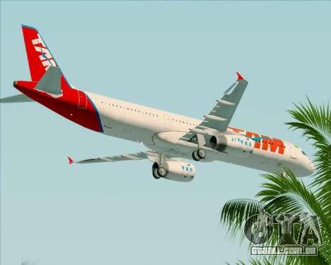 Airbus A321-200 TAM Airlines para GTA San Andreas vista superior