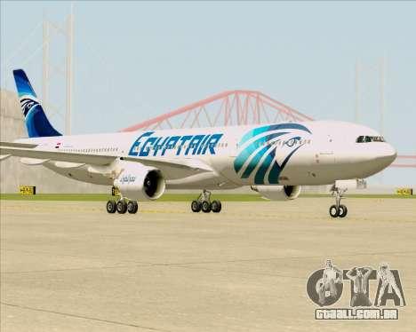 Airbus A330-300 EgyptAir para GTA San Andreas traseira esquerda vista