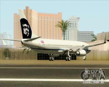 Boeing 737-890 Alaska Airlines para GTA San Andreas vista direita
