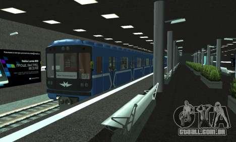 Uma nova estação de metrô de San Fierro para GTA San Andreas décimo tela