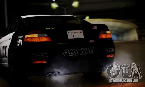 Vapid Police Interceptor from GTA V para GTA San Andreas vista superior