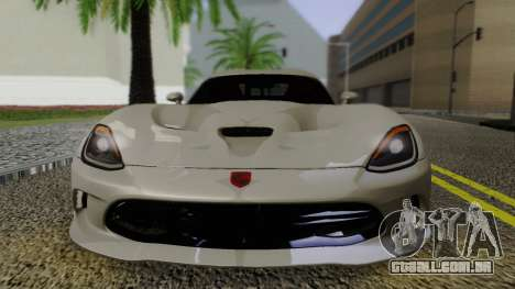 Dodge Viper SRT GTS 2013 Road version para GTA San Andreas vista direita