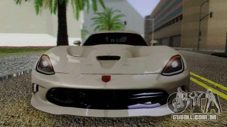 Dodge Viper SRT GTS 2013 Road version para GTA San Andreas vista direita
