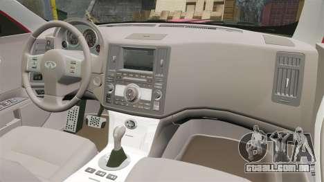 Infiniti FX 45 2008 LP para GTA 4 vista de volta