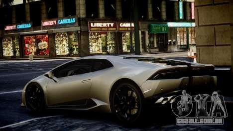 Lamborghini Huracan LP850-4 2014 Wheelsandmore para GTA 4 esquerda vista