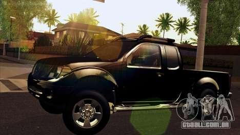 Nissan Frontier 2013 para GTA San Andreas traseira esquerda vista