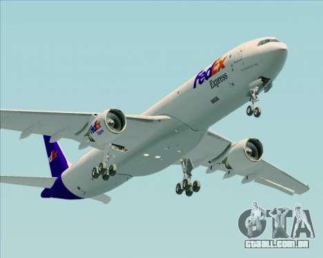 Airbus A330-300P2F Federal Express para GTA San Andreas vista interior