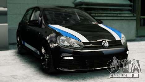 Volkswagen Golf R 2010 Polo WRC Style PJ1 para GTA 4 traseira esquerda vista