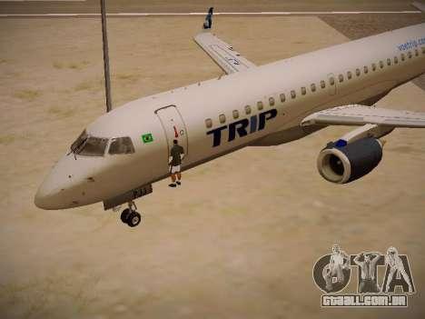 Embraer E190 TRIP Linhas Aereas Brasileira para GTA San Andreas vista interior