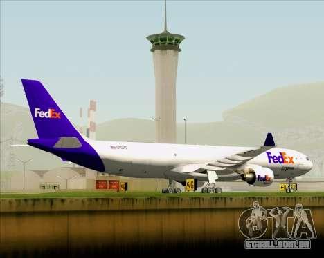 Airbus A330-300P2F Federal Express para GTA San Andreas vista superior