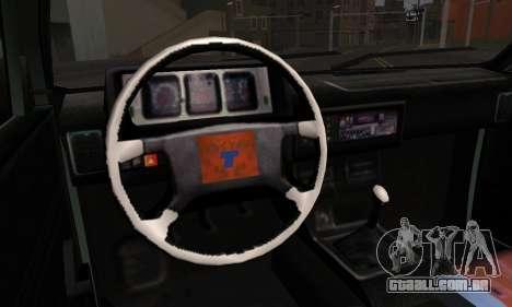 Tofas Dogan SLX 1999 1.6 para GTA San Andreas traseira esquerda vista