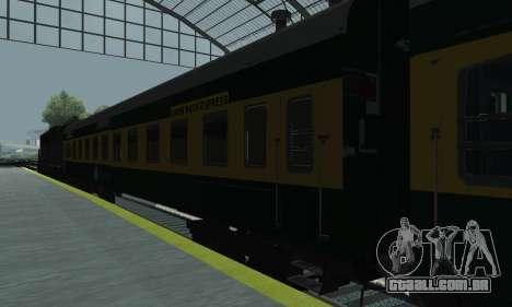 Garib Rath Express para GTA San Andreas traseira esquerda vista