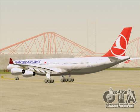 Airbus A340-313 Turkish Airlines para GTA San Andreas vista direita
