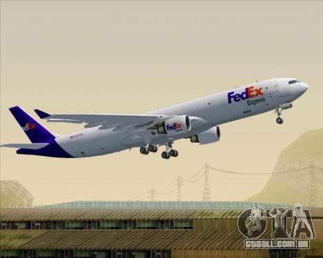 Airbus A330-300P2F Federal Express para as rodas de GTA San Andreas