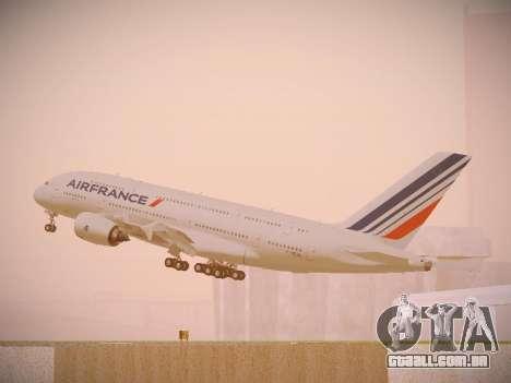 Airbus A380-800 Air France para GTA San Andreas interior