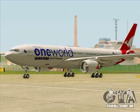 Airbus A330-200 Qantas Oneworld Livery para GTA San Andreas esquerda vista
