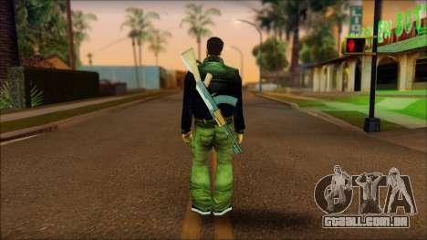 Gun and No Shades Claude para GTA San Andreas segunda tela