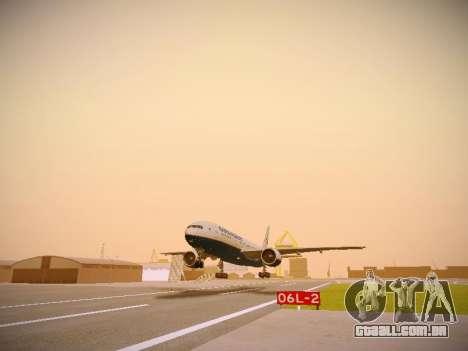 Boeing 777-2Q8ER Orenair Airlines para GTA San Andreas esquerda vista
