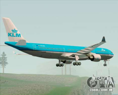 Airbus A330-300 KLM Royal Dutch Airlines para GTA San Andreas vista traseira