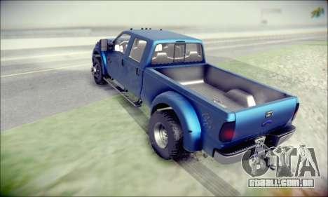 Ford F450 Super Duty 2013 HD para GTA San Andreas traseira esquerda vista
