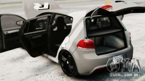 Volkswagen Golf R 2010 Driving Experience para GTA 4 vista de volta