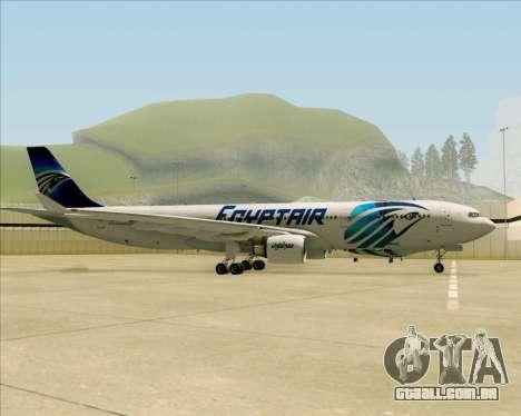 Airbus A330-300 EgyptAir para GTA San Andreas vista traseira