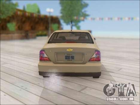 Chevrolet Evanda para GTA San Andreas vista direita