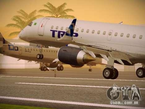 Embraer E190 TRIP Linhas Aereas Brasileira para as rodas de GTA San Andreas