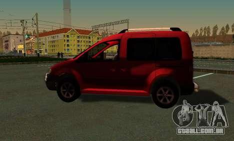Volkswagen Caddy para GTA San Andreas esquerda vista
