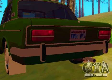 LADA 1500S 1973 para GTA San Andreas vista traseira