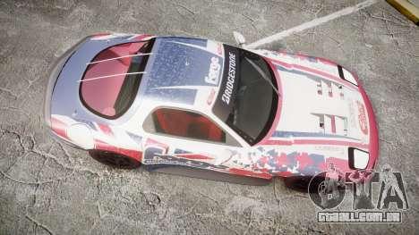 Mazda RX-7 Forge Motorsport para GTA 4 vista direita