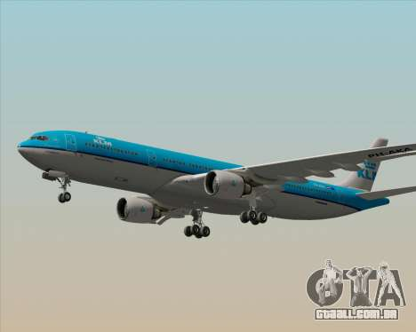 Airbus A330-300 KLM Royal Dutch Airlines para GTA San Andreas vista inferior