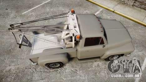 Vapid Tow Truck Jackrabbit para GTA 4 vista direita