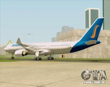 Airbus A330-200 Syphax Airlines para GTA San Andreas vista direita