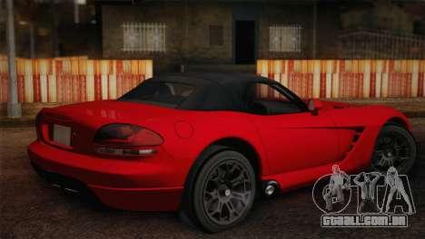 Dodge Viper SRT-10 2003 para GTA San Andreas esquerda vista