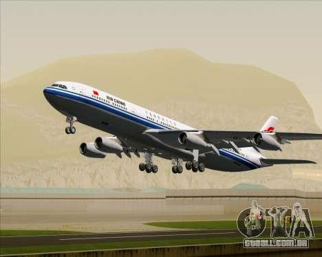 Airbus A340-313 Air China para as rodas de GTA San Andreas