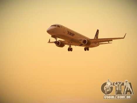 Embraer E190 TRIP Linhas Aereas Brasileira para GTA San Andreas esquerda vista