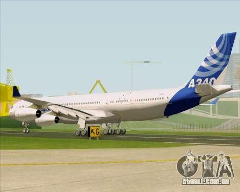 Airbus A340-311 House Colors para GTA San Andreas traseira esquerda vista
