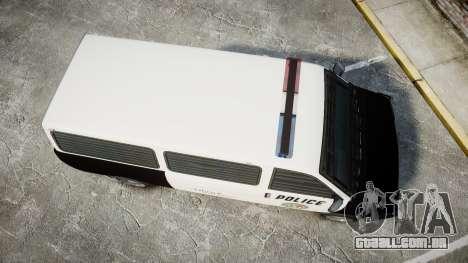 Declasse Burrito Police Transporter LED [ELS] para GTA 4 vista direita