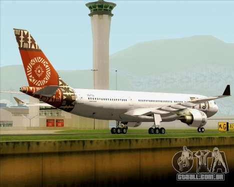 Airbus A330-200 Fiji Airways para GTA San Andreas vista direita