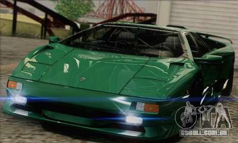 Lamborghini Diablo SV 1997 para GTA San Andreas traseira esquerda vista