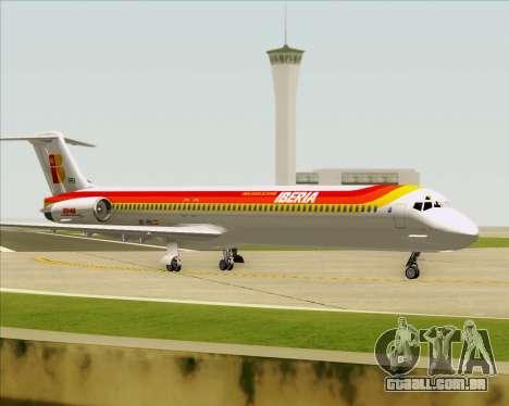 McDonnell Douglas MD-82 Iberia para as rodas de GTA San Andreas