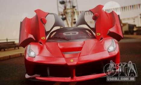 Ferrari LaFerrari F70 2014 para vista lateral GTA San Andreas