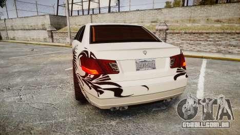 Benefactor Schafter Stretch-E VIP para GTA 4 traseira esquerda vista