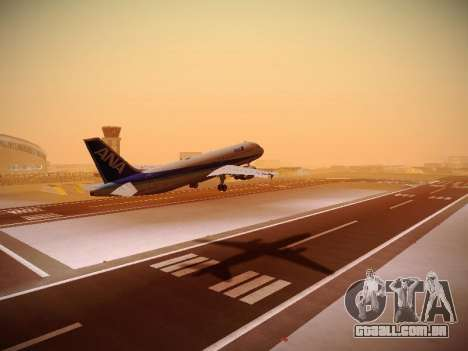 Airbus A320-211 All Nippon Airways para GTA San Andreas traseira esquerda vista