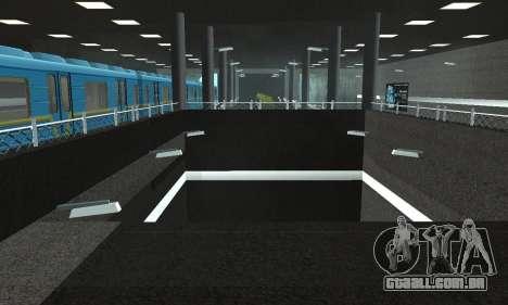 Uma nova estação de metrô de San Fierro para GTA San Andreas oitavo tela