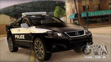 Lexus IS-F 2009 Police para GTA San Andreas