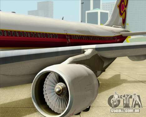 Airbus A330-300 Thai Airways International para vista lateral GTA San Andreas