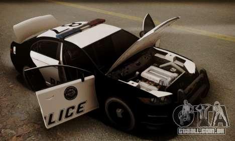 Vapid Police Interceptor from GTA V para GTA San Andreas interior
